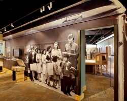 An exhibit featuring Japanese-American incarcerees. at the Heart Mountain WWII Interpretive Center