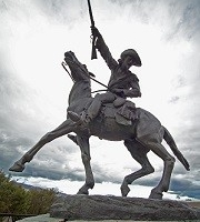 A sculpture of Buffalo Bill Cody