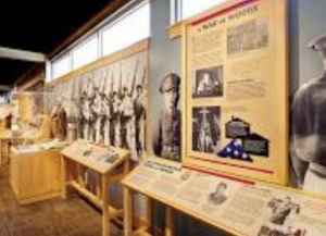 THE INTERIOR OF THE Heart Mountain WWII Interpretive Center