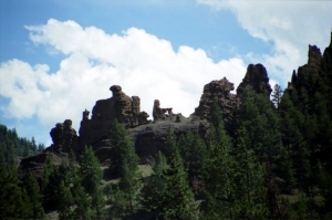 Rock formation on the Buffalo Bill Scenic Byway