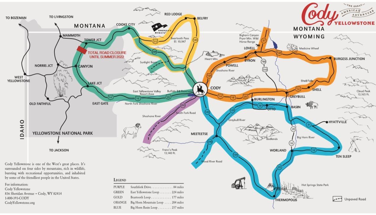 scenic drive map