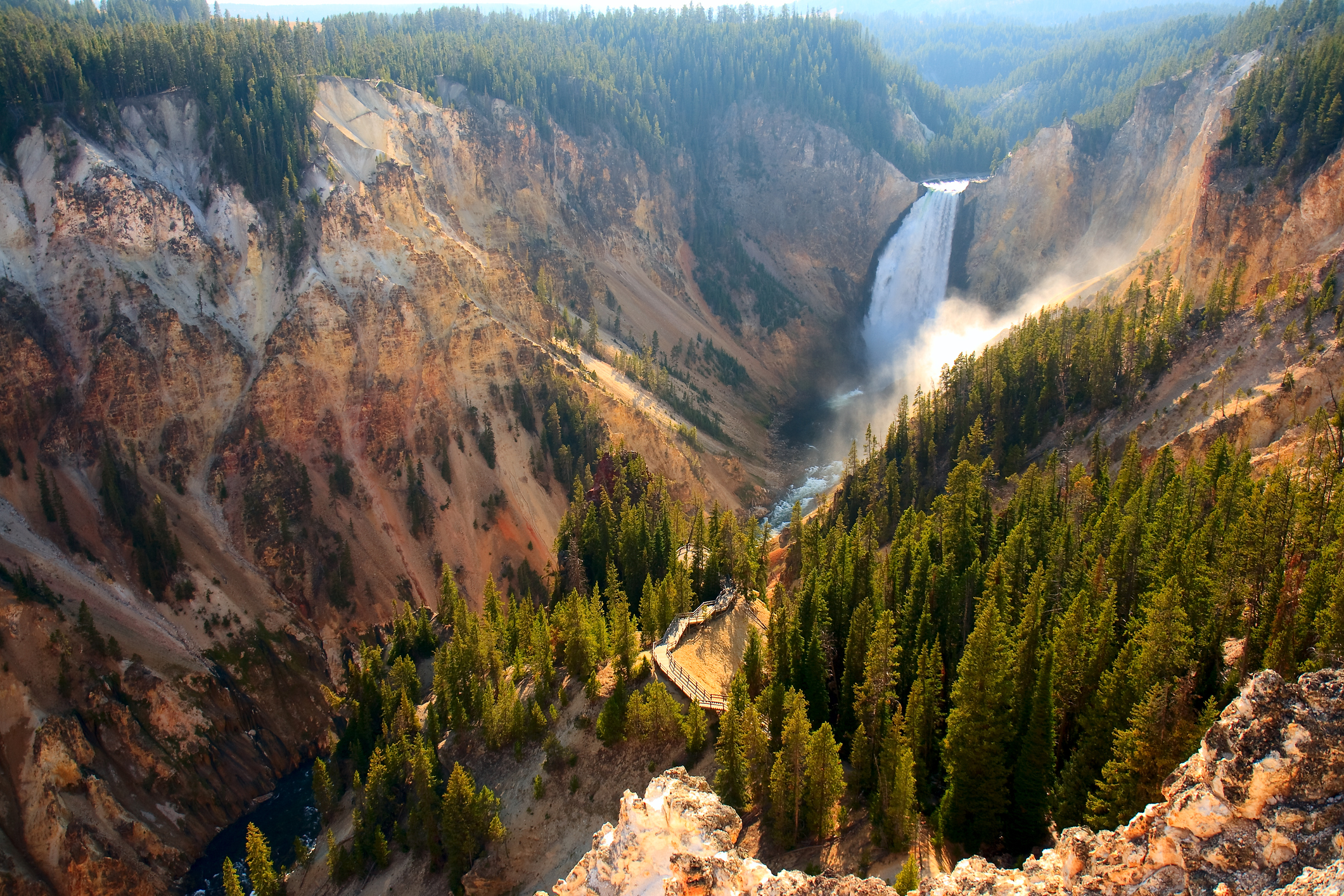 Lower Falls in Yellowstone's Grand Canyon.
