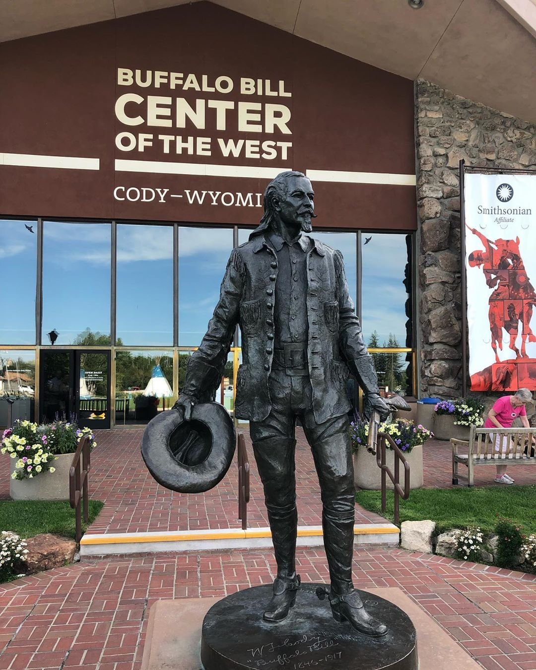 Buffalo Bill Cody Statue outside Buffalo Bill Center of the West