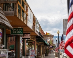 street scene in Cody Wyoming
