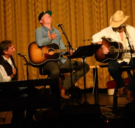 Performers Playing Guitar For The Yellowstone Songwriter Festival