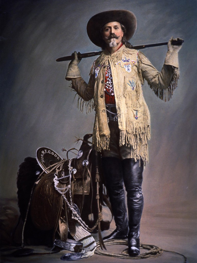 Buffalo Bill Portrait with saddle photobb-02