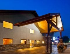Front Exterior Night View of BWS