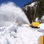 snow plow blowing snow