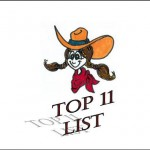 Cartoon Cowgirl with the words Top 11 List