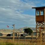 Guard tower, barrack buildings