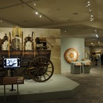 Interior of museum with a wagon