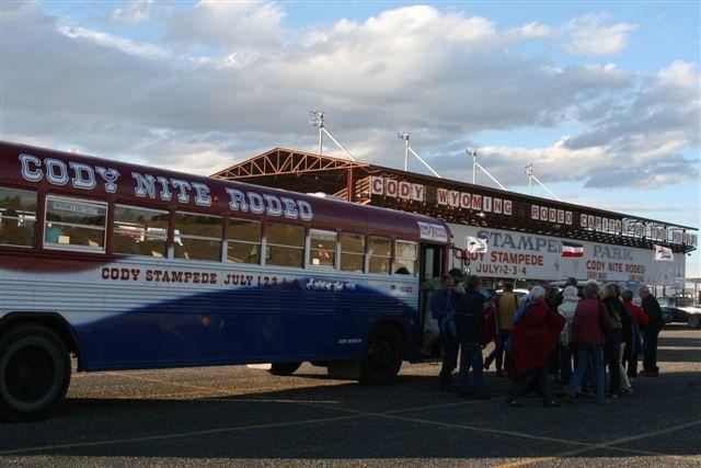 Cody Nite Rodeo Bus