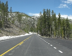 Open road that the Shuttle Service drives