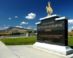 Monument at Wyoming State Veteran Memorial Park