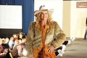 Western style is showcased on the runway at the 2013 Cody High Style event.