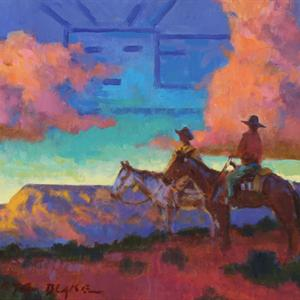 """South and West"", a piece by Buckeye Blake on sale through the Silent Auction."