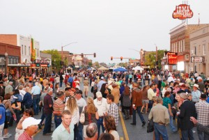 Visitors pack the downtown streets of Cody at the 2013 Boot Scoot N' Boogie.