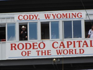 Many cowboy champions begin competing at the Cody Nite Rodeo.