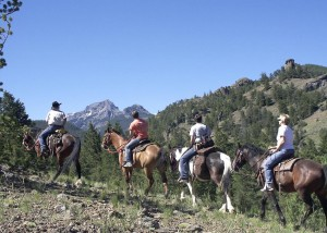 Horseback riding is a popular activity in Cody/Yellowstone Country.