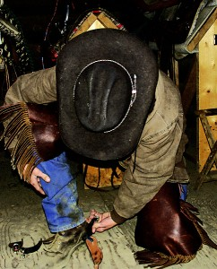 Cowboy gear - hat, chaps, boots – can be expensive