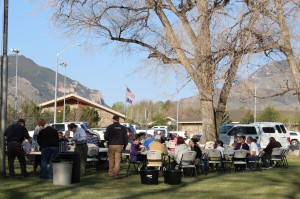 Locals and tourists enjoy the 2nd annual Park 'n Pancakes Breakfast