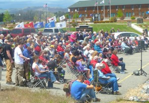 Cody's Memorial Day Ceremony drew a large crowd