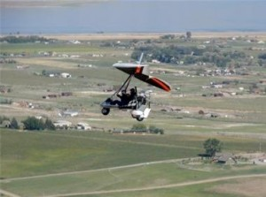 Enjoy the breathtaking views surrounding Yellowstone from a powered hang glider.