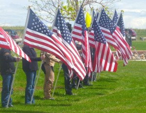 Flags fly proud at the Cody Memorial Day event