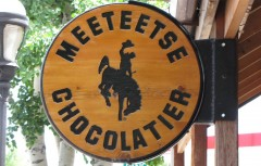Meeteetse Chocolatier sign 6-26-11