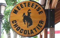 Meeteetse Chocolatier sign 6-26-11
