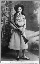 Annie Oakley was a popular performer in the Wild West Show