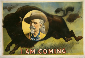 A promotional poster for Buffalo Bill's Cody Wild West Show.