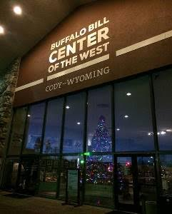 The locals always enjoy the beautiful Christmas tree and party at the Buffalo Bill Center of the West