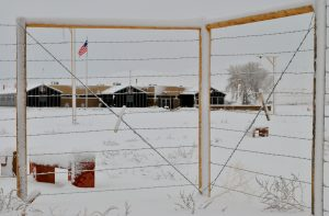 Winter at Heart Mountain WWII Japanese American Internment Center in Cody/Yellowstone Country.