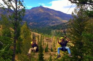 The Sleeping Giant Zip Line in Cody/Yellowstone Country