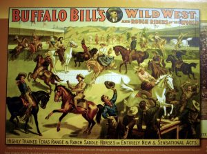 A poster for Buffalo Bill's Wild West Show