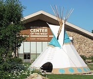 The entrance to Buffalo Bill Center of the West in Cody, Wyoming.