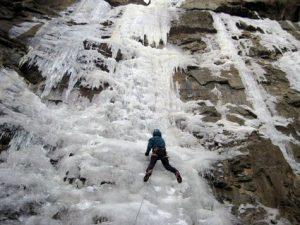 Ice climbing in Cody/Yellowstone Country.