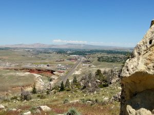 The view of Cody, Wyoming from Cedar Mountain.