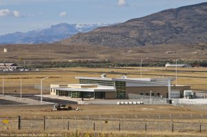 An exterior view of Yellowstone Regional Airport.