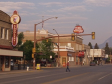 The iconic Irma Hotel in downtown Cody, Wyoming.
