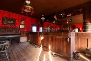 An interior shot of the bar at The River's Saloon near Meeteetse, Wyoming.