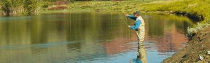 Fly fishing is especially appealing in the fall.