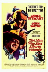 "The poster for the film ""The Man Who Shot Liberty Vance"""