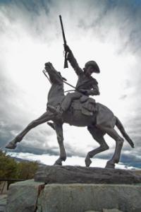 A statue of Buffalo Bill Cody