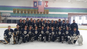 The Yellowstone Quake hockey team poses for a team photo