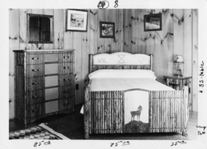 A bedroom circa 1950 furnished with Molesworth furniture