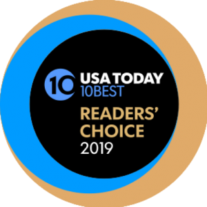 Logo for USA Today 10Best Readers' Choice Awards