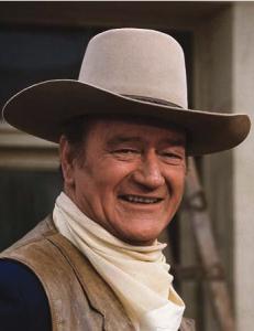 John Wayne dressed as a cowboy