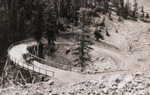 The Corkscrew Bridge in Yellowstone National Park